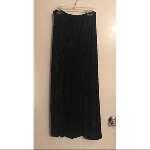 New Black Velvet Maxi Skirt